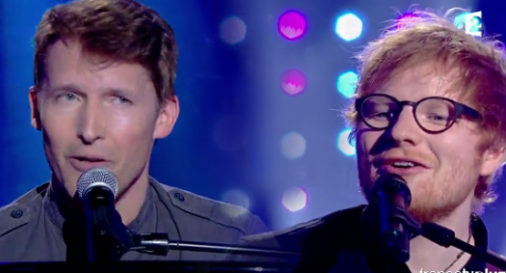 James Blunt e Ed Sheeran: Cover de Elton John